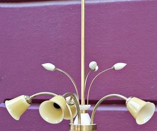 Lámpara años 20 restaurada.