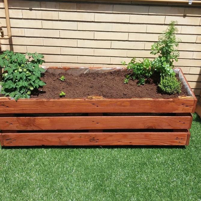 Decoración de jardines gracias al reciclaje de palets