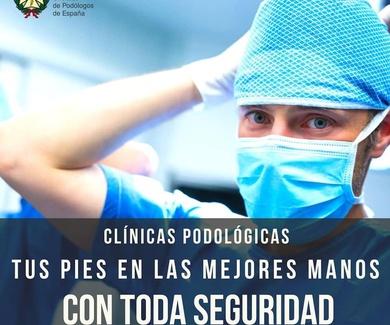 Clínicas podológicas - Higiene - Desinfección- Protección