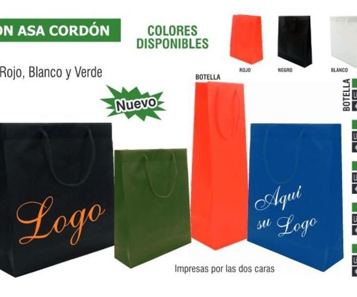 BOLSAS PVC ASA CORDON 26X32X8.5CMS: TIENDA ON LINE de Seriprint Serigrafia