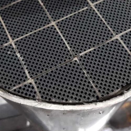 Todos los filtros de particulas van desmontados