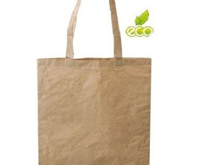 Bolsa ecologia en fibras de algodón y papel