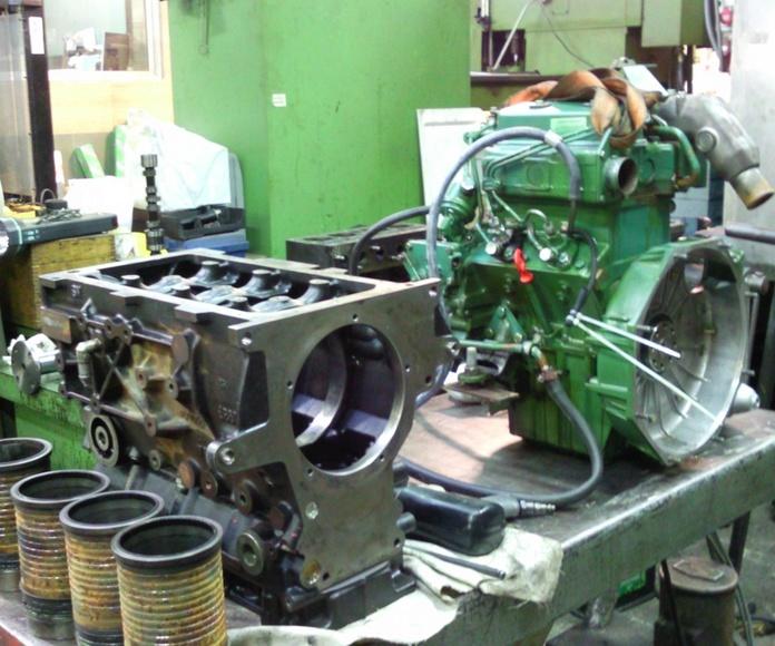 El primero motor VM tipo ENR, el verde Volvo Pentax marino.