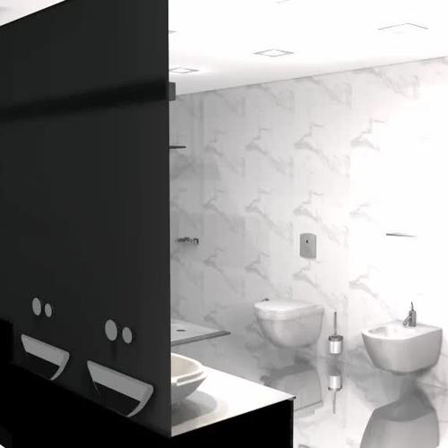 Diseño de baño con Neolith.......Terminacion..............Classtone Estatuario E05.