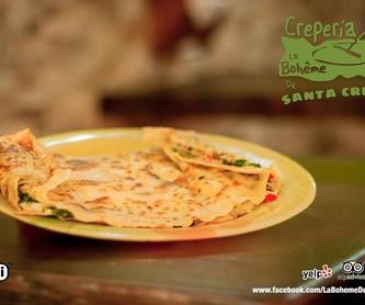 Crepes saladas clásicas: Crepes y mucho más de Crepería La boheme