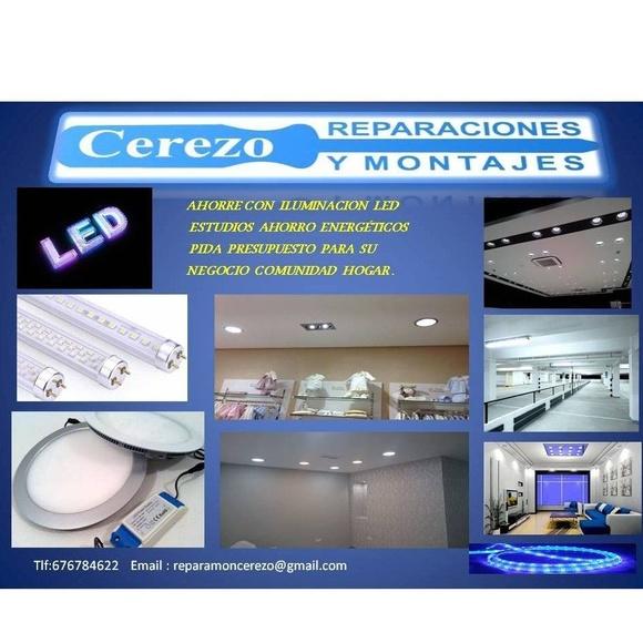 Iluminación LED: Servicios de Reparaciones y Montajes Cerezo