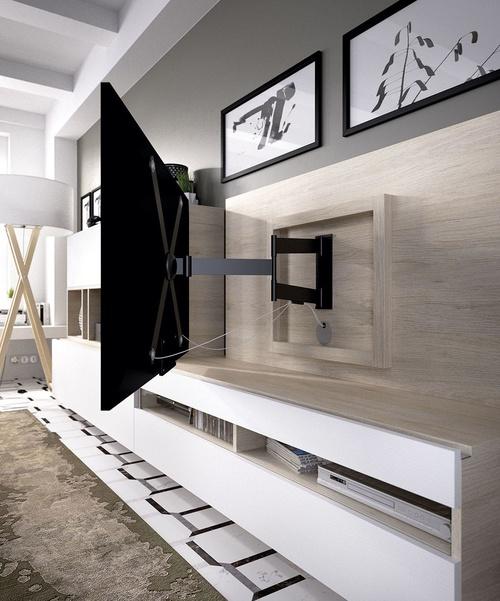 Detalle panel de televisión en composición horizontal 3