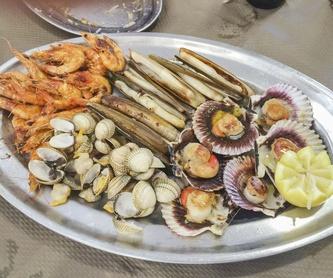Mariscada y parrillada con productos del mar: Productos y servicios de A'Cañota