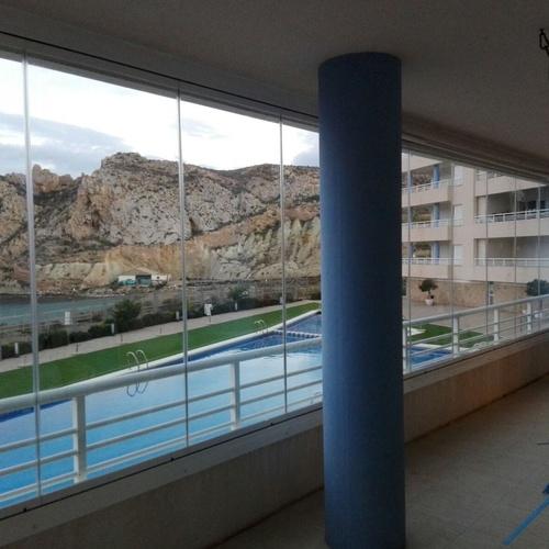 Cerramientos abatibles Murcia | Cortina de Cristal CB