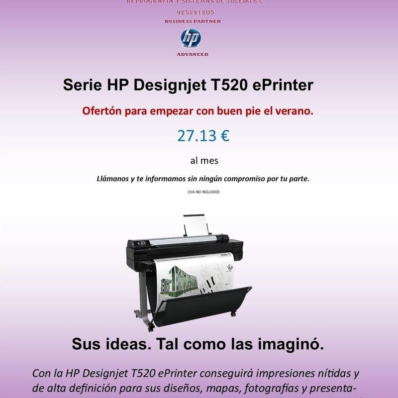 Serie HP Designjet T520 ePrinter