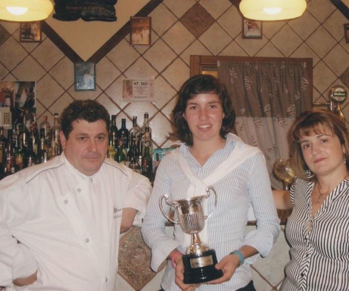 La campeona de golf Navarra Carlota Ciganda.