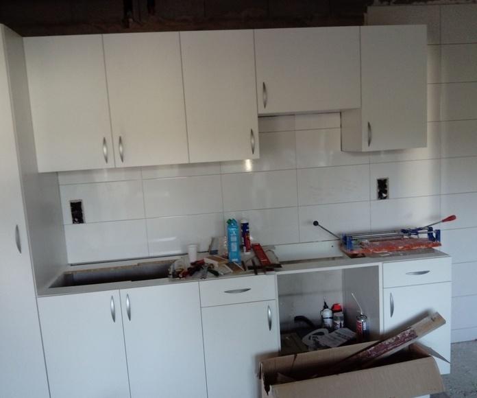 embaldosado de cocina de nueva construccion