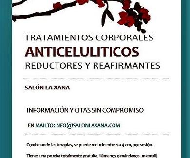 Tratamientos corporales anticelulíticos