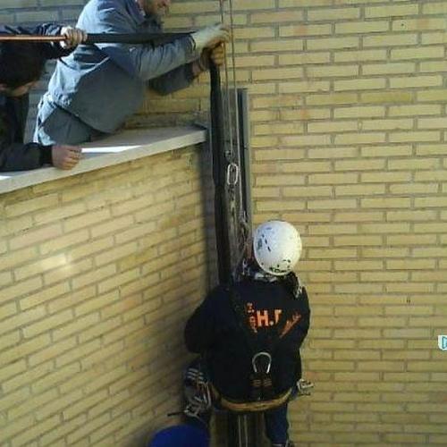 Trabajos verticales: canaleta