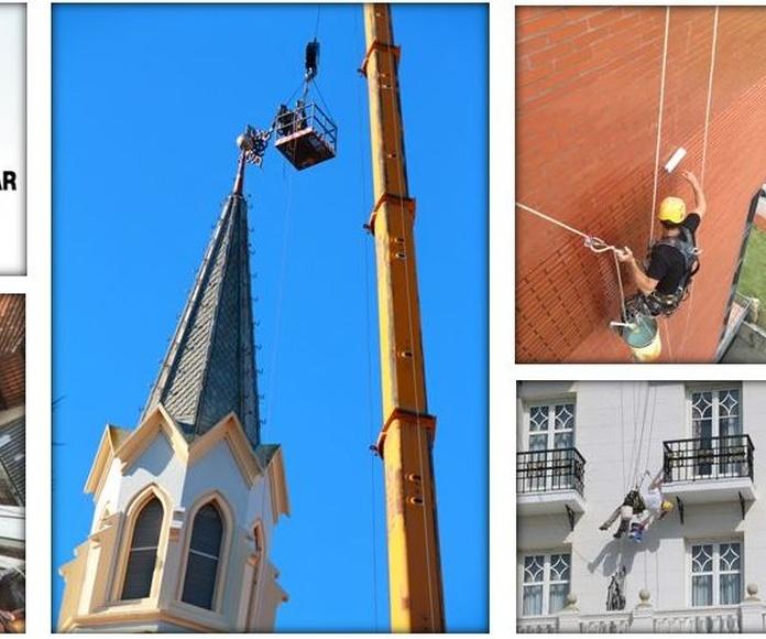 Técnicos especialistas en trabajos verticales Santander-Torrelavega.