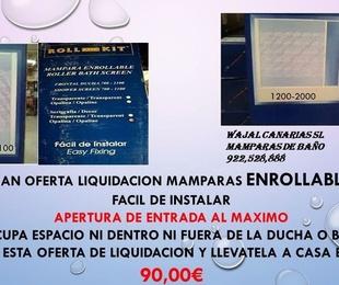 Gran oferta liquidación de mamparas enrollables
