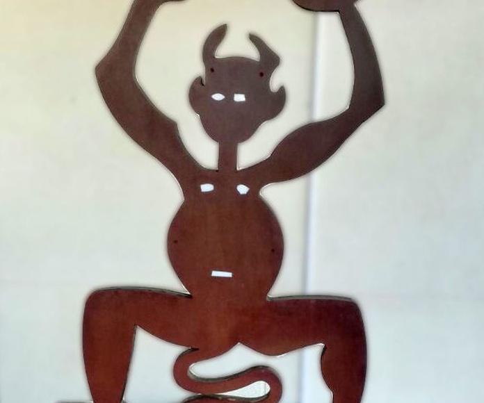 Totem Luminoso Diablo de Timanfaya en Lanzarote