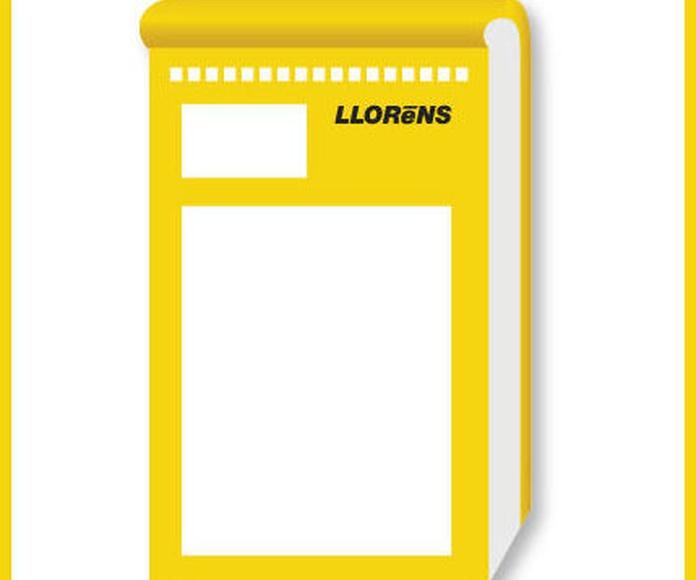 Talonarios para Talleres: Productos y Servicios de Imprenta Llorens