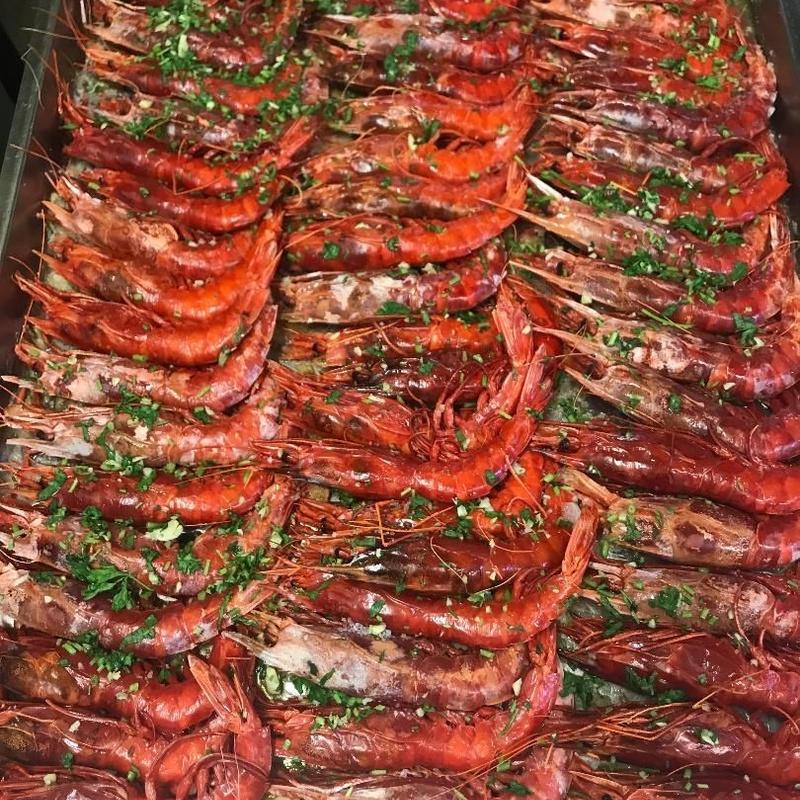 Carabineros plancha: Menús de Restaurante Terraza La Parrilla de Valdemoro