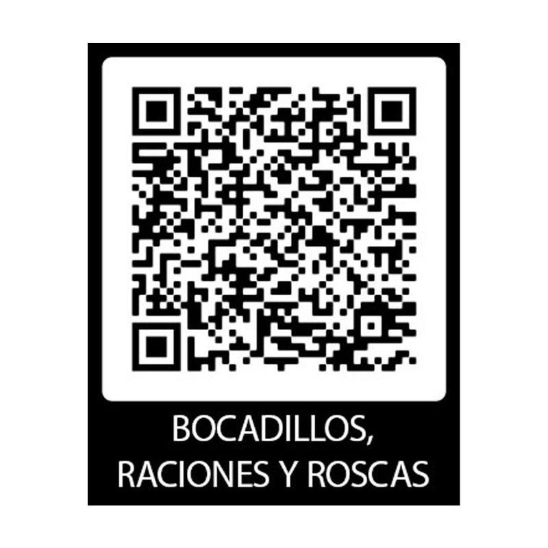 QR de bocadillos, raciones y roscas: ¿Qué ofrecemos? de Restaurante El Alcázar
