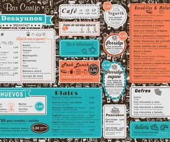 Postres: Carta de Bar Canijo