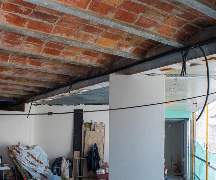 En Construccion,  apeo zona sala de estar