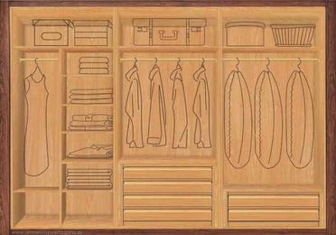 Diseños de interiores de armarios