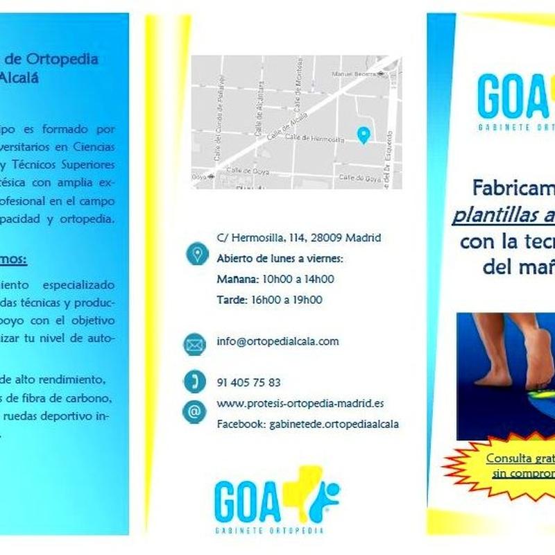 Estudio dinámico de la marca: ¿Qué podemos ofrecerte? de Gabinete de Ortopedia Alcalá, S.L.