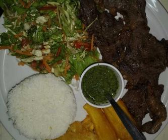 Salchipapas: Carta de Bar Cafetería Los Amigos