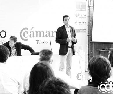 """""""Emprendedores tecnológicos. Ganando visibilidad"""" Javier Martín en Activa Internet Toledo."""