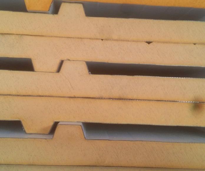 panel cubierta tornillo no visto