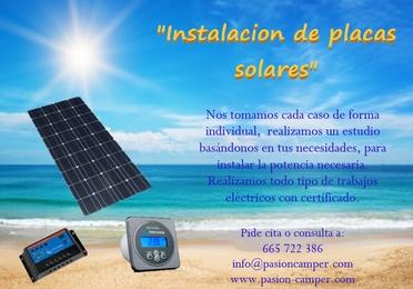 Placa solar de 110W y de 180W