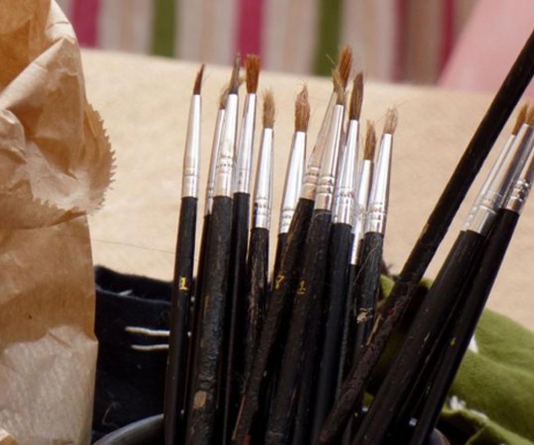 Diferentes tipos de pinceles según el tipo de pelo del que están hechos