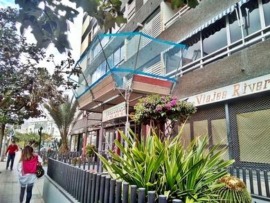 Marquesina protección para trabajos verticales. Santa Cruz de Tenerife.