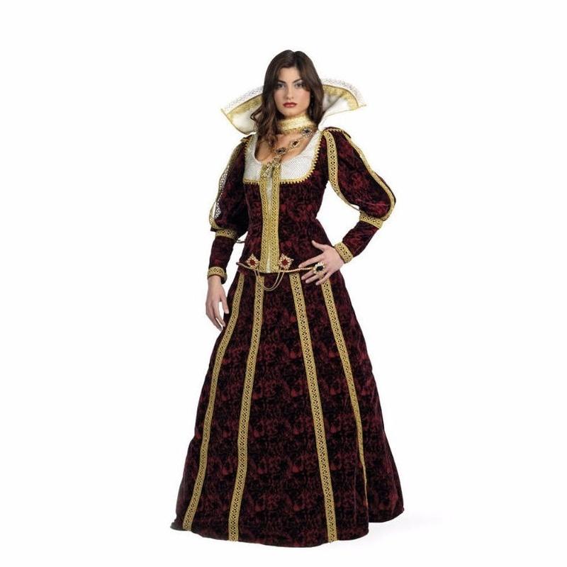 Disfraz dama Lucrecia lujo