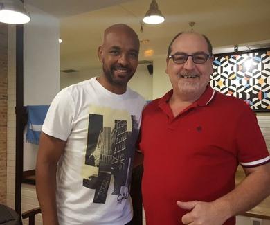 Marcos Senna vino a visitarnos a Che Boludo