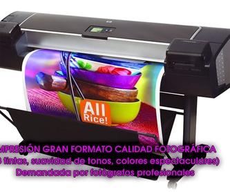 Impresión lonas: Catálogo de Copistería Copivan