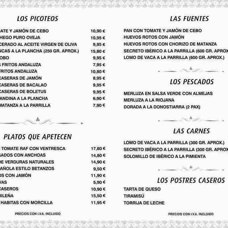 AHORA LOS PLATOS DE NUESTRA CARTA PARA LLEVAR:  de Restaurante El Vidueño