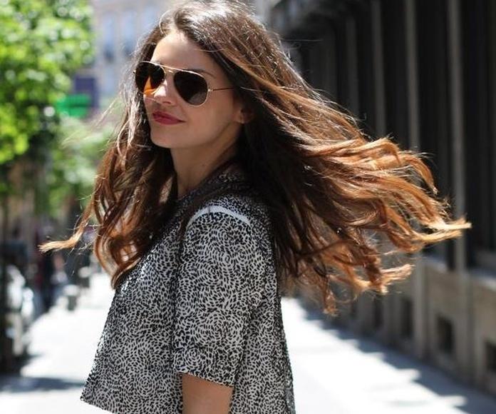 María, del blog de moda Stylissm, confía en Llongueras Mirasierra-Madrid para cuidar su cabello