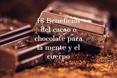 18 Beneficios del cacao o chocolate para la mente y el cuerpo