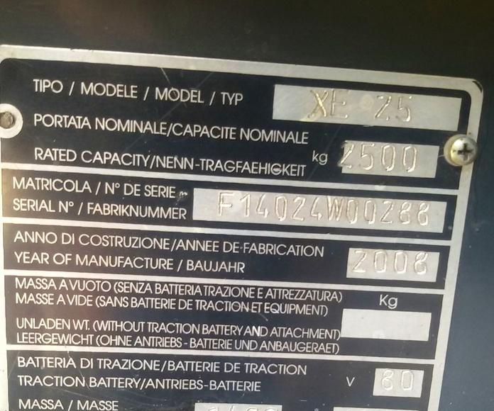 OCASIÓN VENTA CARRETILLA ELÉCTRICA MARCA OM: Maquinaria de ocasión de Carretillas Elevadoras A.L.A., S.L.