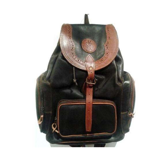 Mochila de caza de piel con 3 bolsillos frontales: Tienda online de Artículos de Caza