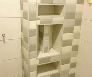 jabonera de obra, un armario unico y exclusivo para su baño