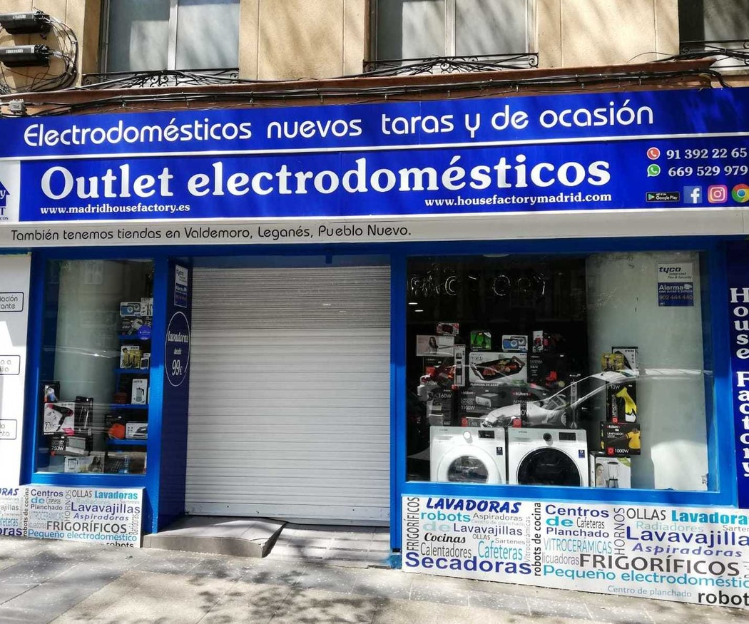 Más información sobre House Factory Madrid Outlet de Electrodomésticos