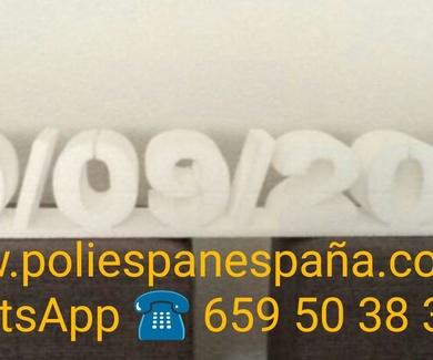 NUMEROS PARA ANIVERSARIOS DE POLIESPAN MADRID