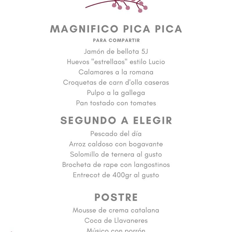 Menú Especial Grupo Nº 3: Carta de Restaurant Mundial