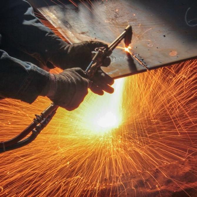 El funcionamiento de un soldador a gas