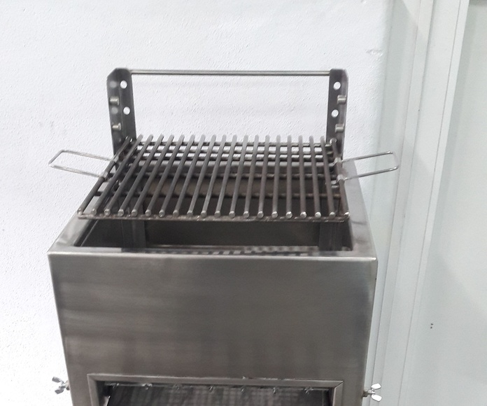 Barbacoa portatil en 100% acero inoxidable