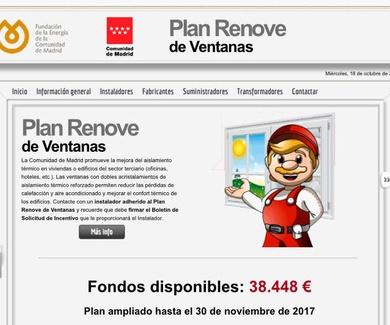 Ampliación de plazo plan renové comunidad de Madrid