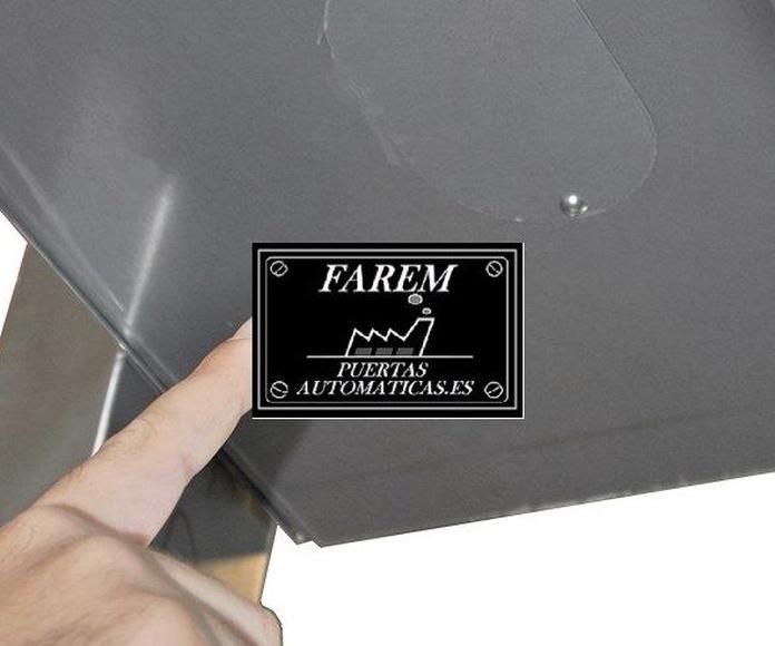 Cobertor registro Puerta Rápida Salas Blancas Farem Giess Auto Pharma